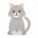 animal, cat, cute, toy icon