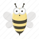 animal, bee, cute, insect, toy icon