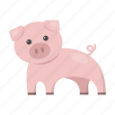 animal, cute, pig, swine, toy icon