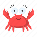 animal, crab, cute, sea, toy icon
