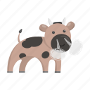animal, bull, cute, toy icon