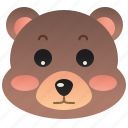 animal, bear, grizzly, mammal, wild icon