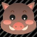 beast, pig, wildlife, mammal, boar icon