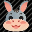 cattle, domestic, donkey, farm, mule icon