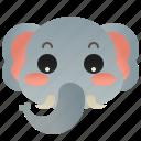 animal, elephant, ivory, mammal, wildlife icon