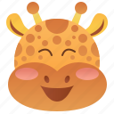 safari, giraffe, wildlife, herbivore, africa icon