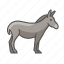 animal, donkey, wild icon
