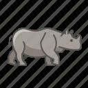 animal, rhinoceros, wild icon