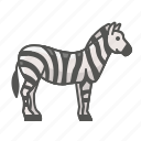 animal, wild, zebra icon