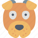 dog, animal, ears, face, pet, puppy icon