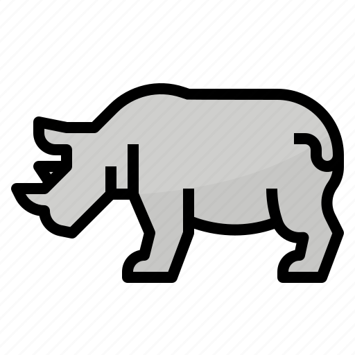 Africa, animals, rhino, zoo icon - Download on Iconfinder