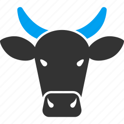 agriculture, animal, animals, bull, cattle, cow, farm icon