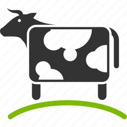agriculture, cattle, cow, farm, grass, grazing, pasture icon