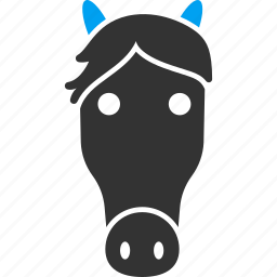 animal, animals, head, horse, mustang, pony, riding icon