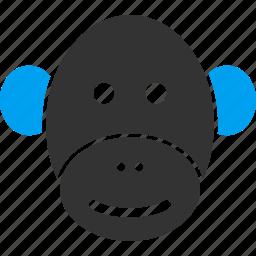 ape, chimpanzee, gorilla, head, marmoset, monkey, primate icon