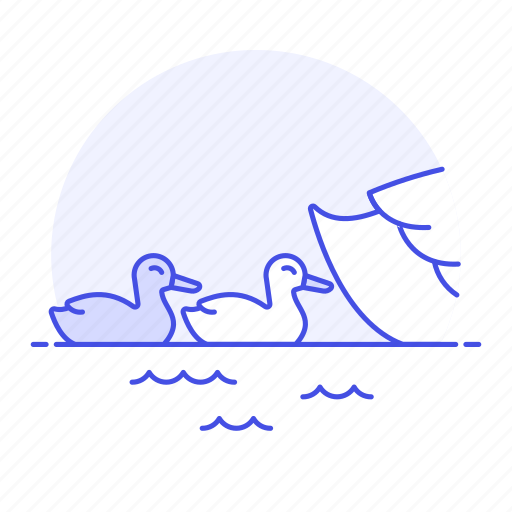 animal, baby, birds, brood, fauna, goose, hatchling, swimming, vertebrate, water, waterfowl icon