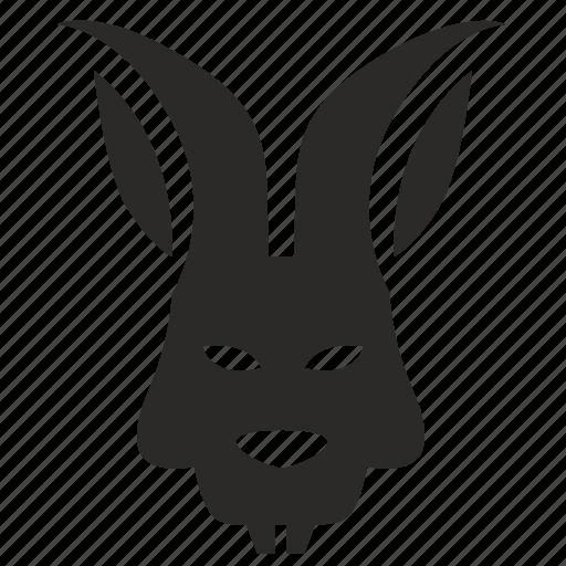 animal, avatar, face, mask, rabbit icon