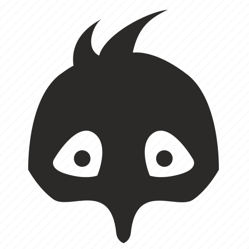 bird, chicken, face, mask icon