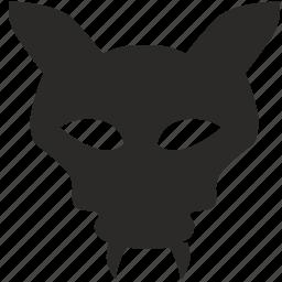 animal, bat, devil, mask, vampire icon