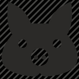 animal, face, mask, pig icon