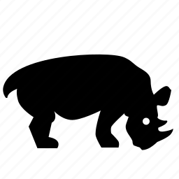 animal, body, head, rhino, rhinoceros, zoo icon
