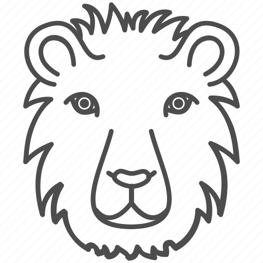 animal, animals, face, king, leo, lion, wild icon