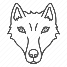 animal, animals, dog, face, forest, wolf, zoo icon