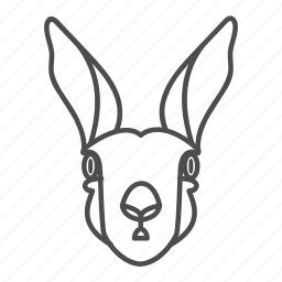 animal, animals, bunny, easter, face, pet, rabbit icon