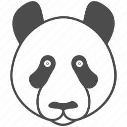 animal, bamboo, bear, face, panda icon