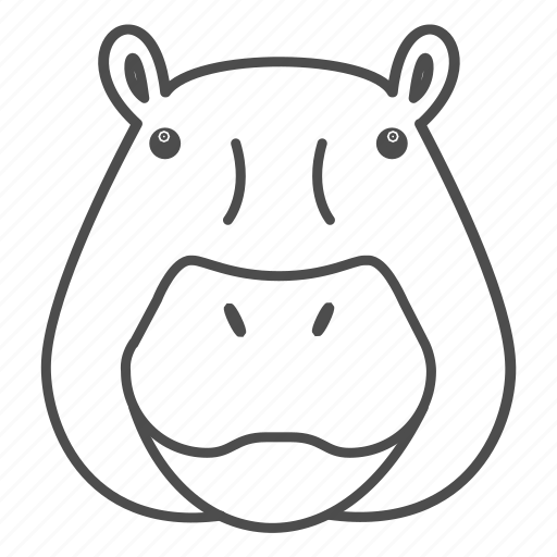 africa, animal, face, hippo, hippopotamus, kenya, wildlife icon