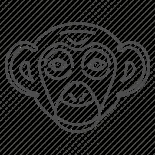 animal, animals, chimp, chimpanzees, face icon