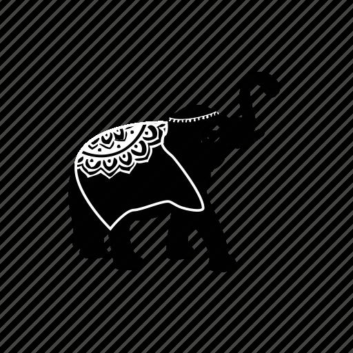 animals, elephant icon