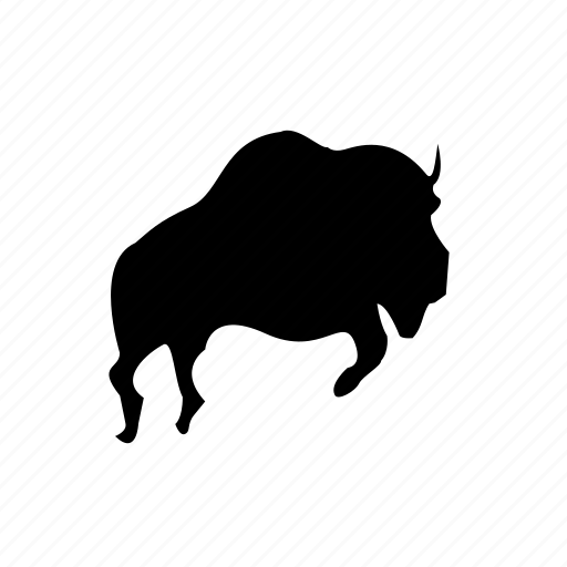 animal, animals, bison icon