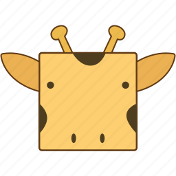 animal, giraffe, giraffe face icon