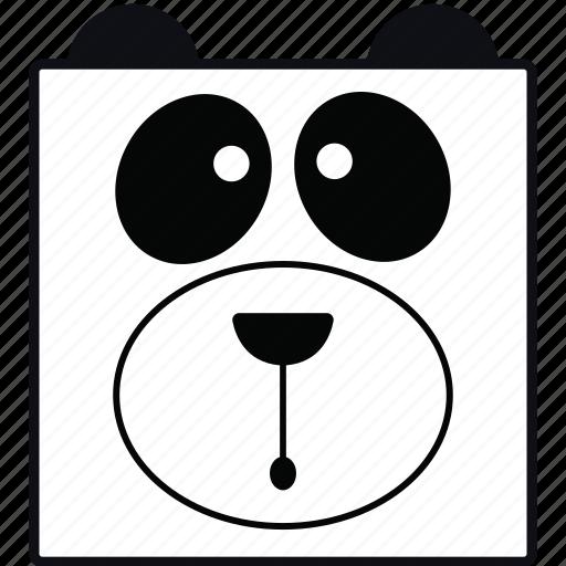 animal, bear, panda, panda face icon