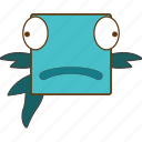 animal, fish, fish face, fishing icon