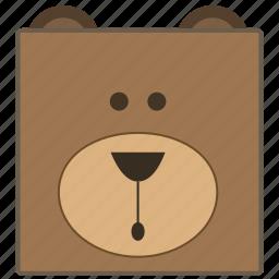 animal, baby bear, bear, bear face, teddy bear, toy, toys icon