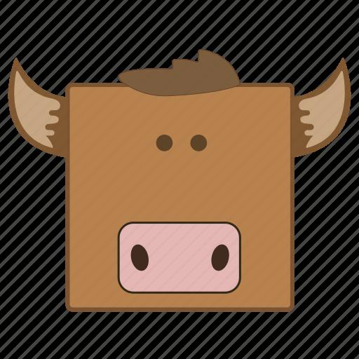 animal, calf, cow icon