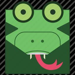 animal, crocadile, crocodile face, happy crocodile icon