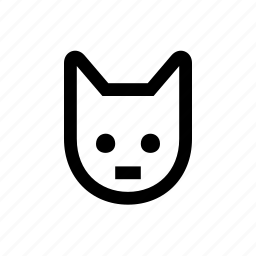 animal, cat, cute, face, pet icon