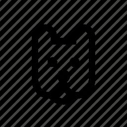 animal, dog, face, pet icon