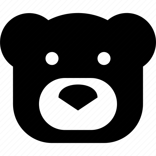 bear, face icon