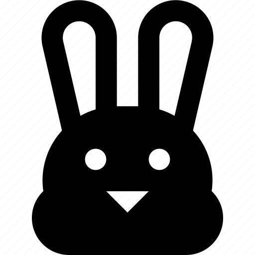 bunny, face icon