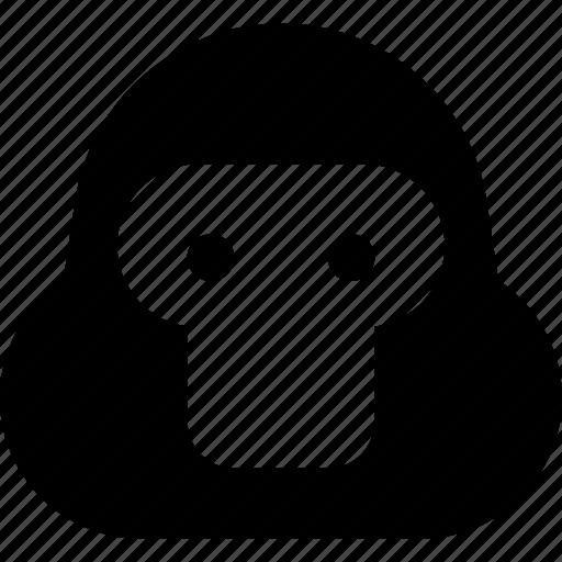 face, gorilla icon
