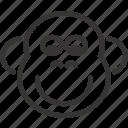animal, chimpanzee, monkey icon