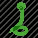 airy, animals, balloons, birthday, green, snake icon