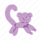 airy, animals, balloons, birthday, lemur, purple