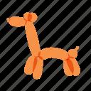 airy, animals, balloons, birthday, orange icon
