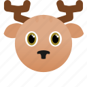animal, deer, face icon, wild, zoo icon
