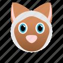 animal, cat, domestic, face icon, pet, siames icon